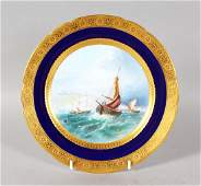 A VERY FINE QUALITY MINTON PLATE painted with a