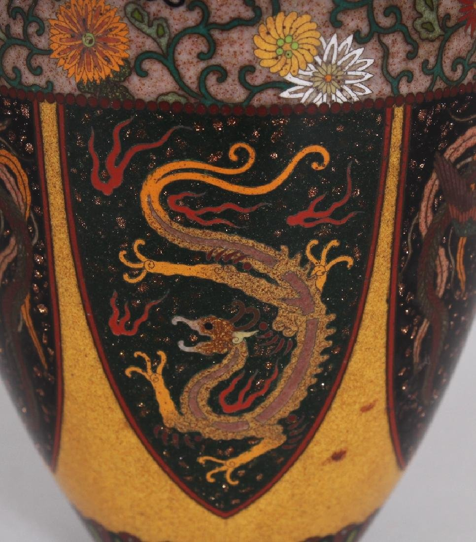 A GOOD QUALITY JAPANESE MEIJI PERIOD CLOISONNE VASE, in - 2