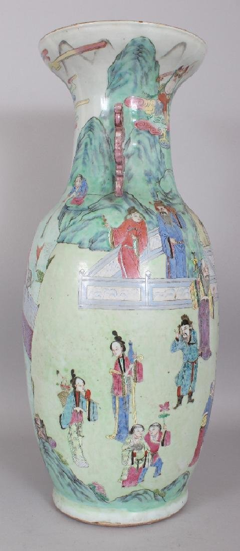 A LARGE GOOD QUALITY 19TH CENTURY CHINESE CANTON - 2