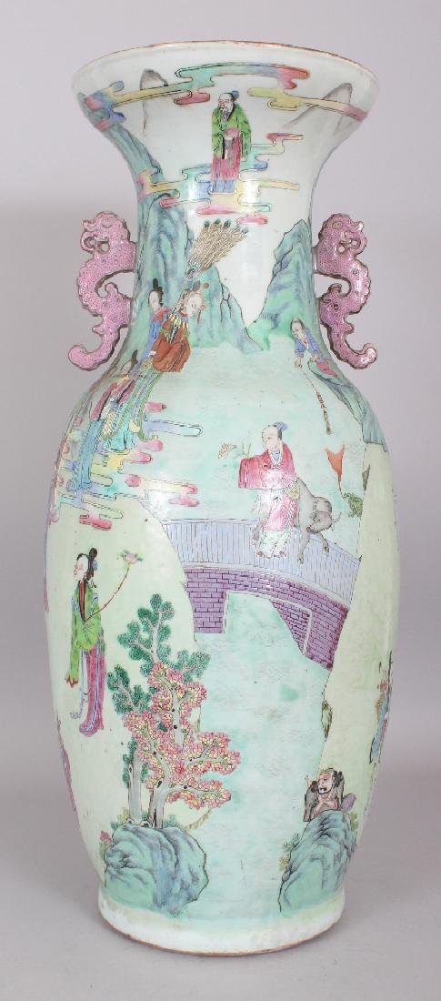 A LARGE GOOD QUALITY 19TH CENTURY CHINESE CANTON - 3