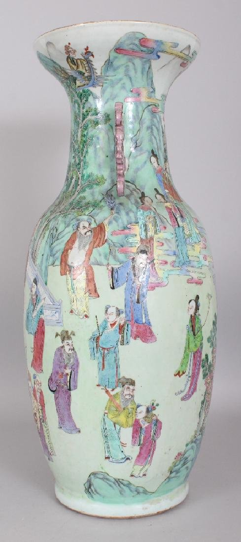 A LARGE GOOD QUALITY 19TH CENTURY CHINESE CANTON - 4