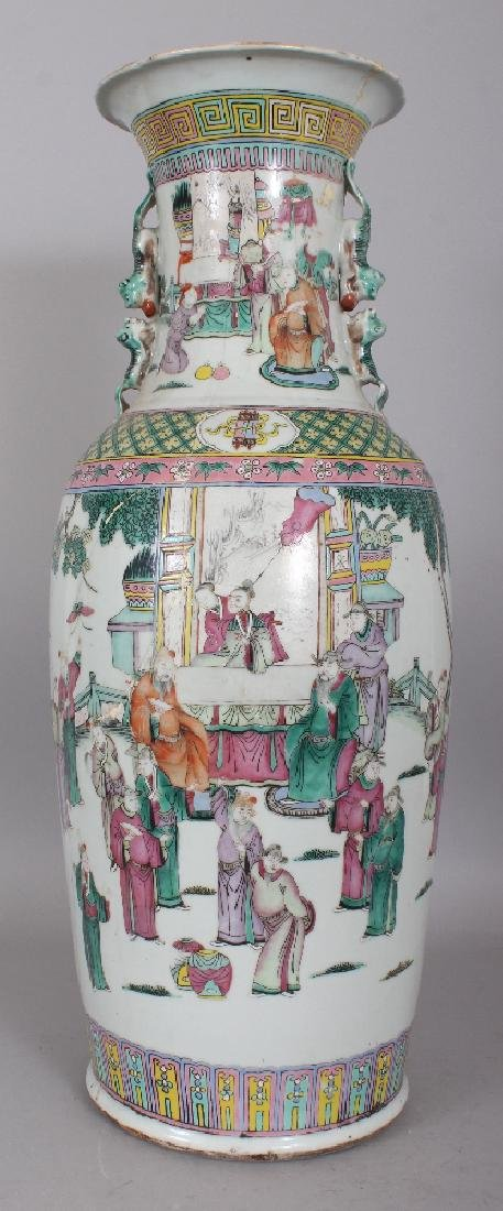 A LARGE 19TH CENTURY CHINESE FAMILLE ROSE-VERTE - 3
