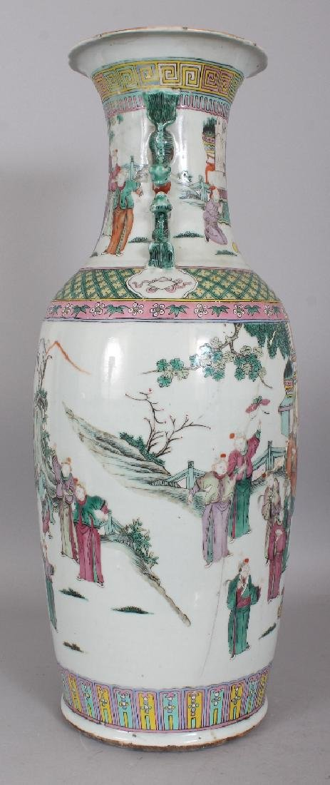 A LARGE 19TH CENTURY CHINESE FAMILLE ROSE-VERTE - 4