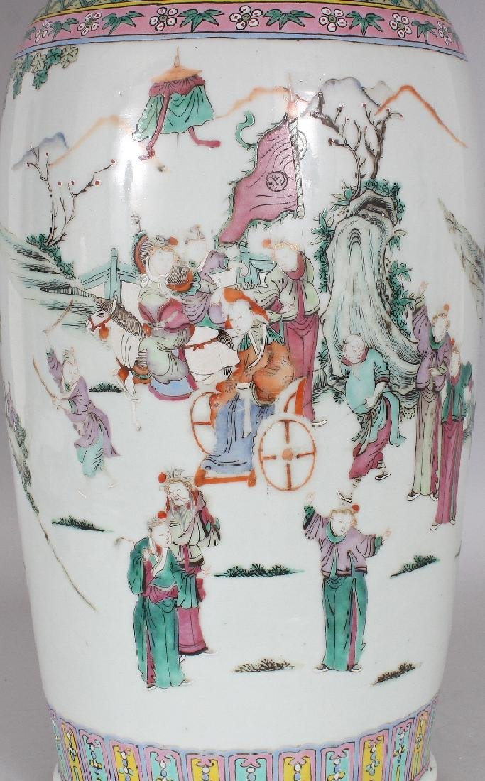 A LARGE 19TH CENTURY CHINESE FAMILLE ROSE-VERTE - 5