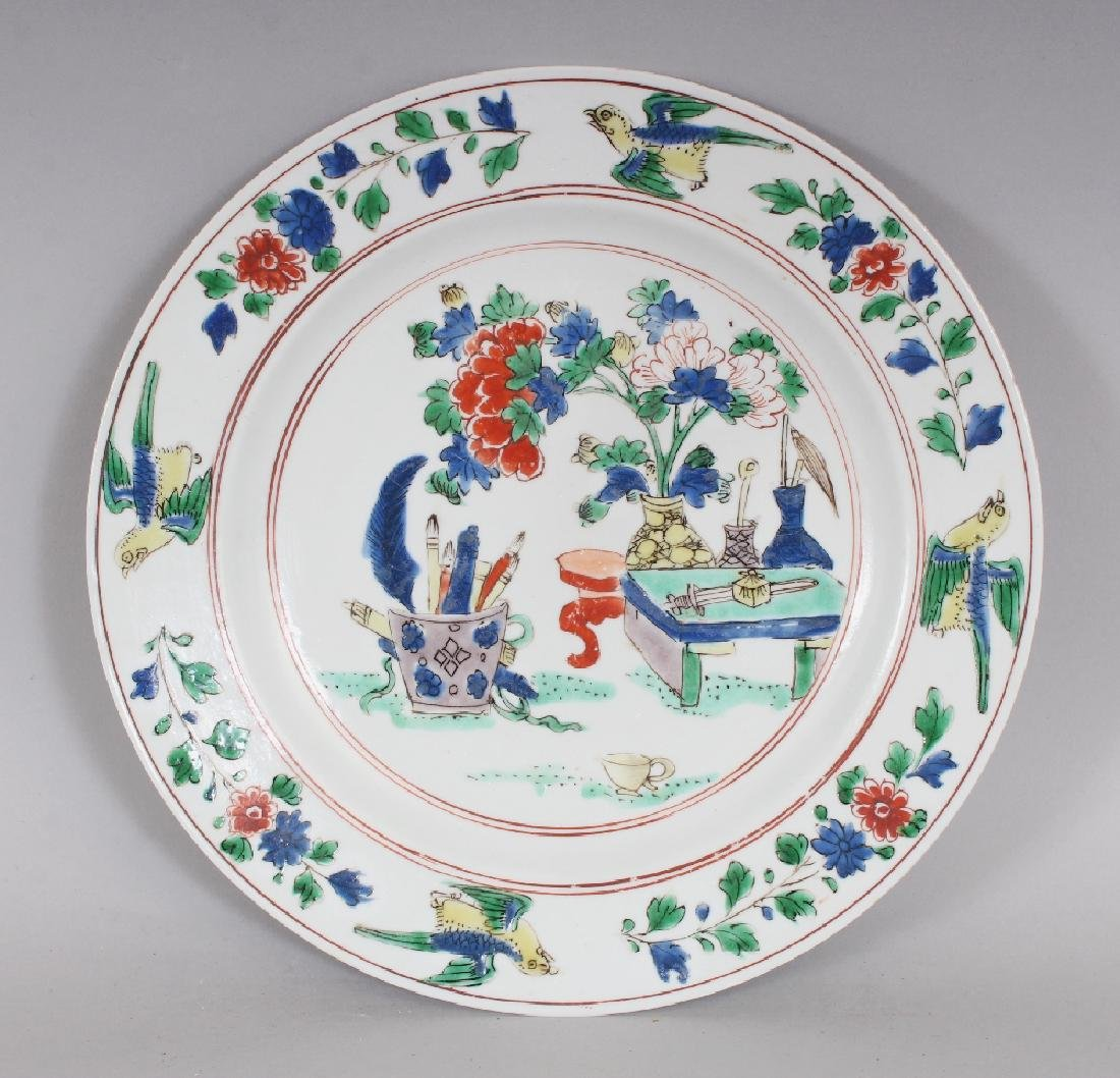 A GOOD CHINESE KANGXI PERIOD FAMILLE VERTE PORCELAIN