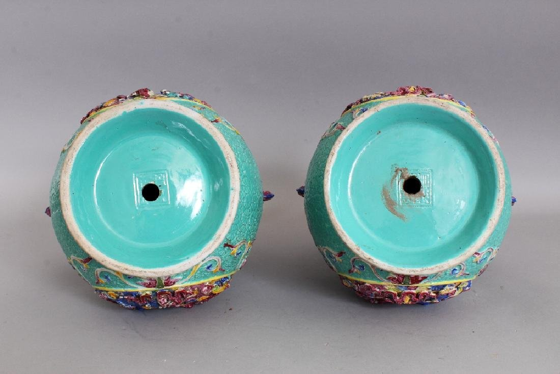 A LARGE PAIR OF 19TH/20TH CENTURY CHINESE FAMILLE ROSE - 6