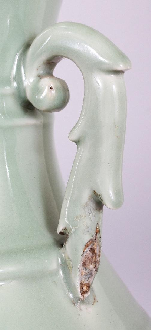 A LARGE 19TH CENTURY CHINESE CELADON PORCELAIN VASE, - 3