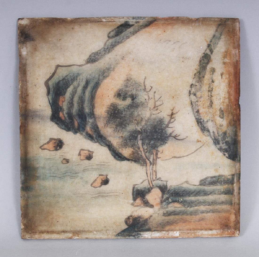 A SMALLER SQUARE FORM 19TH/20TH CENTURY CHINESE PAINTED - 3