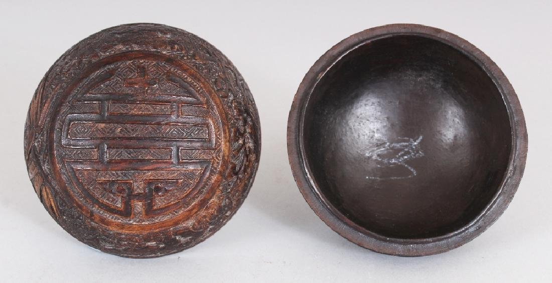 A GOOD QUALITY 19TH CENTURY CHINESE CARVED WOOD - 4