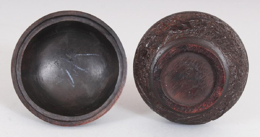 A GOOD QUALITY 19TH CENTURY CHINESE CARVED WOOD - 6