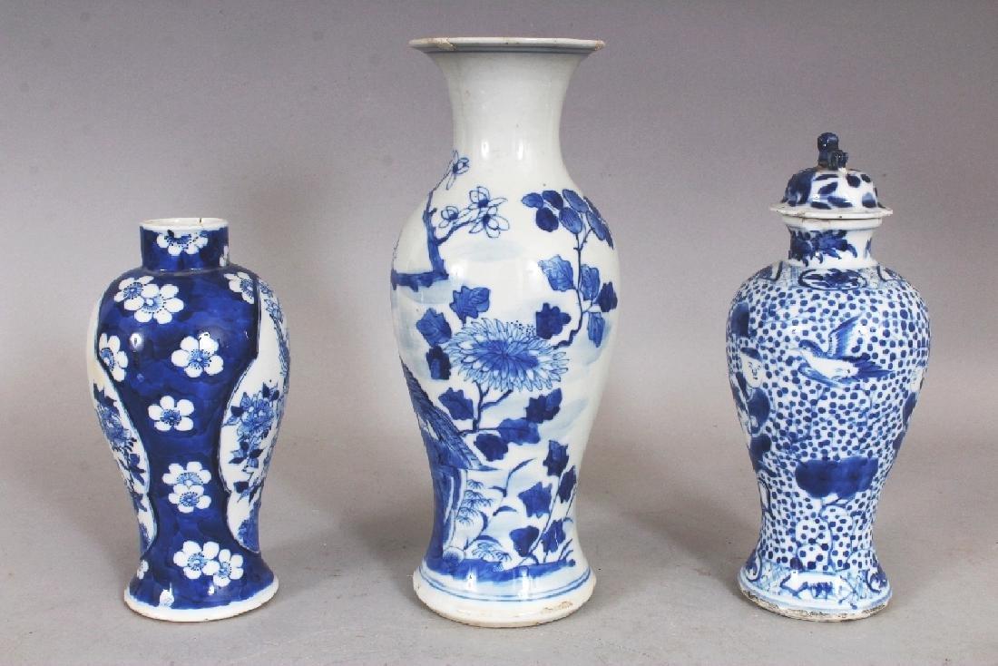 THREE VARIOUS 19TH CENTURY CHINESE BLUE & WHITE - 2