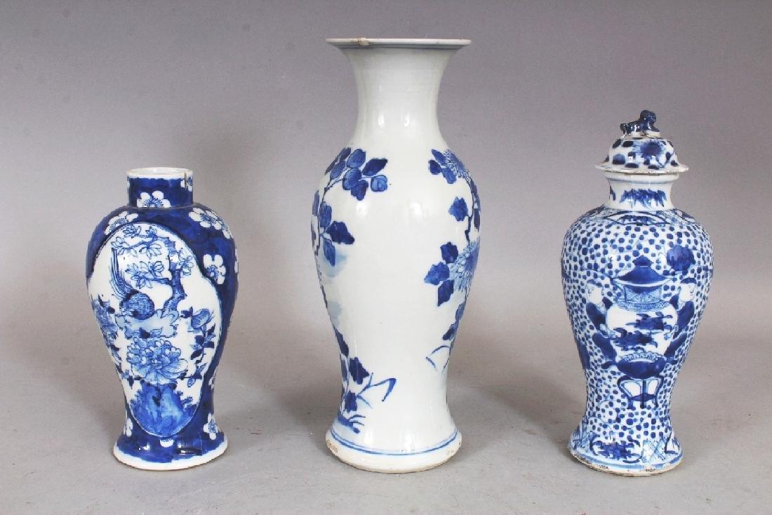 THREE VARIOUS 19TH CENTURY CHINESE BLUE & WHITE - 3
