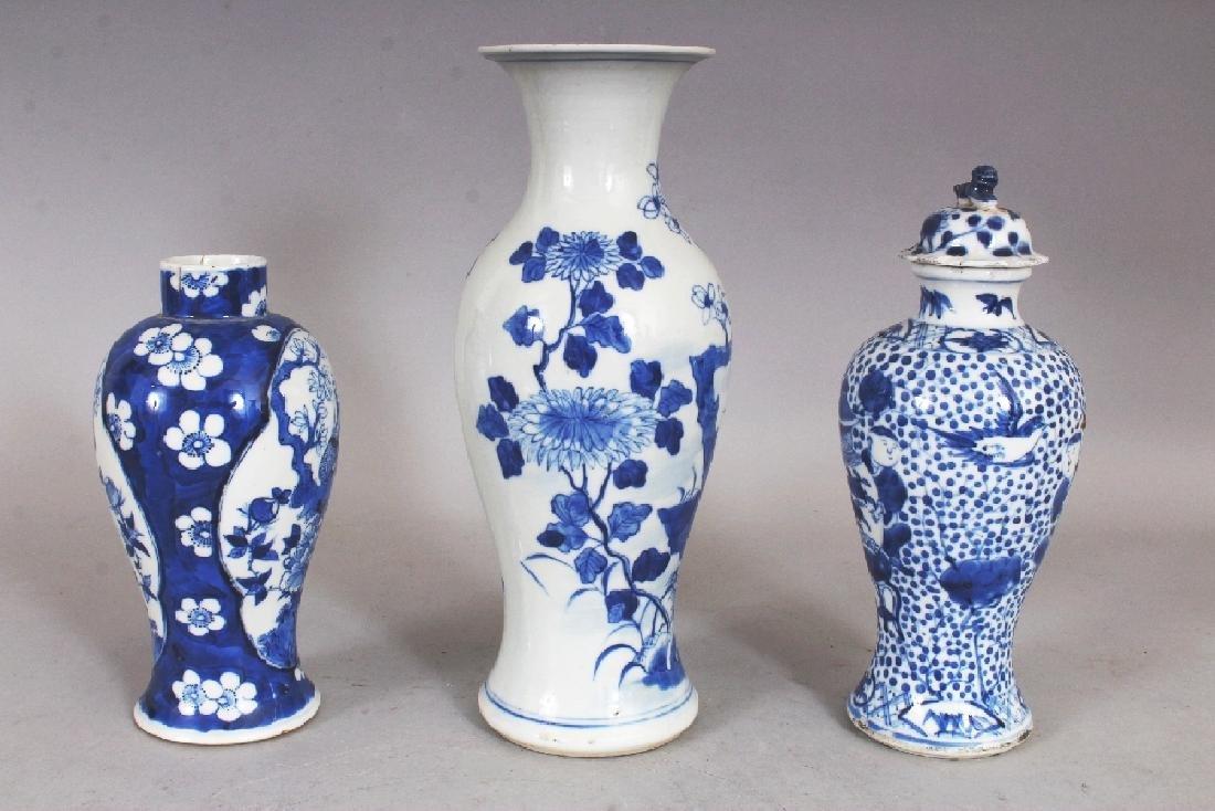 THREE VARIOUS 19TH CENTURY CHINESE BLUE & WHITE - 4
