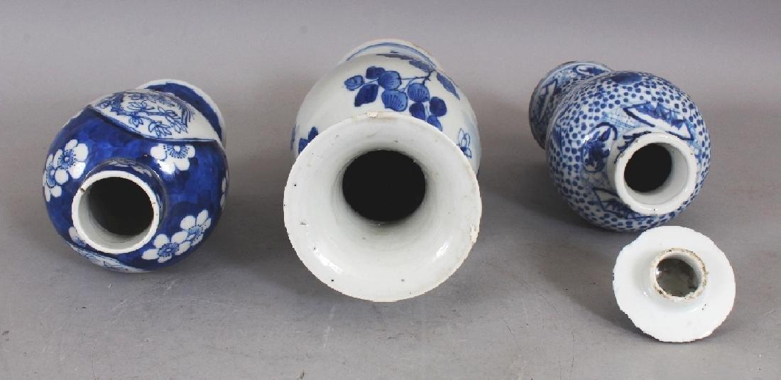 THREE VARIOUS 19TH CENTURY CHINESE BLUE & WHITE - 5