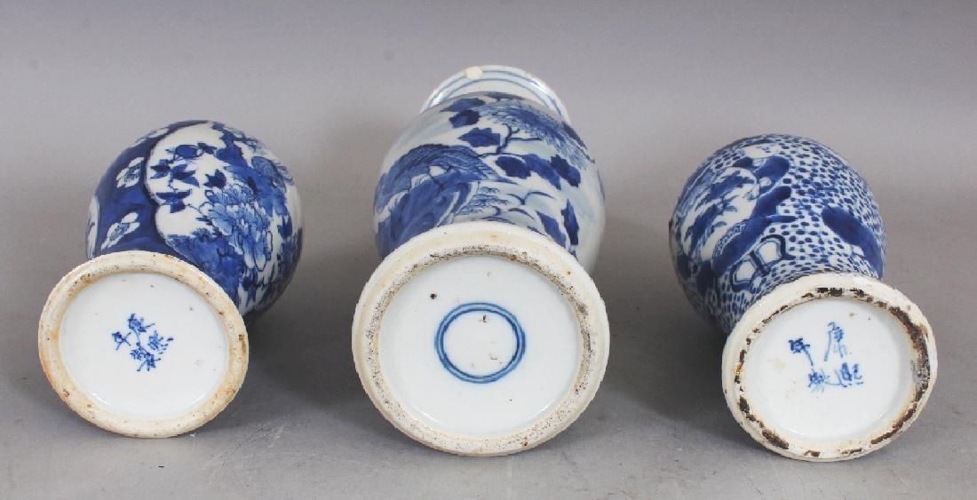 THREE VARIOUS 19TH CENTURY CHINESE BLUE & WHITE - 6