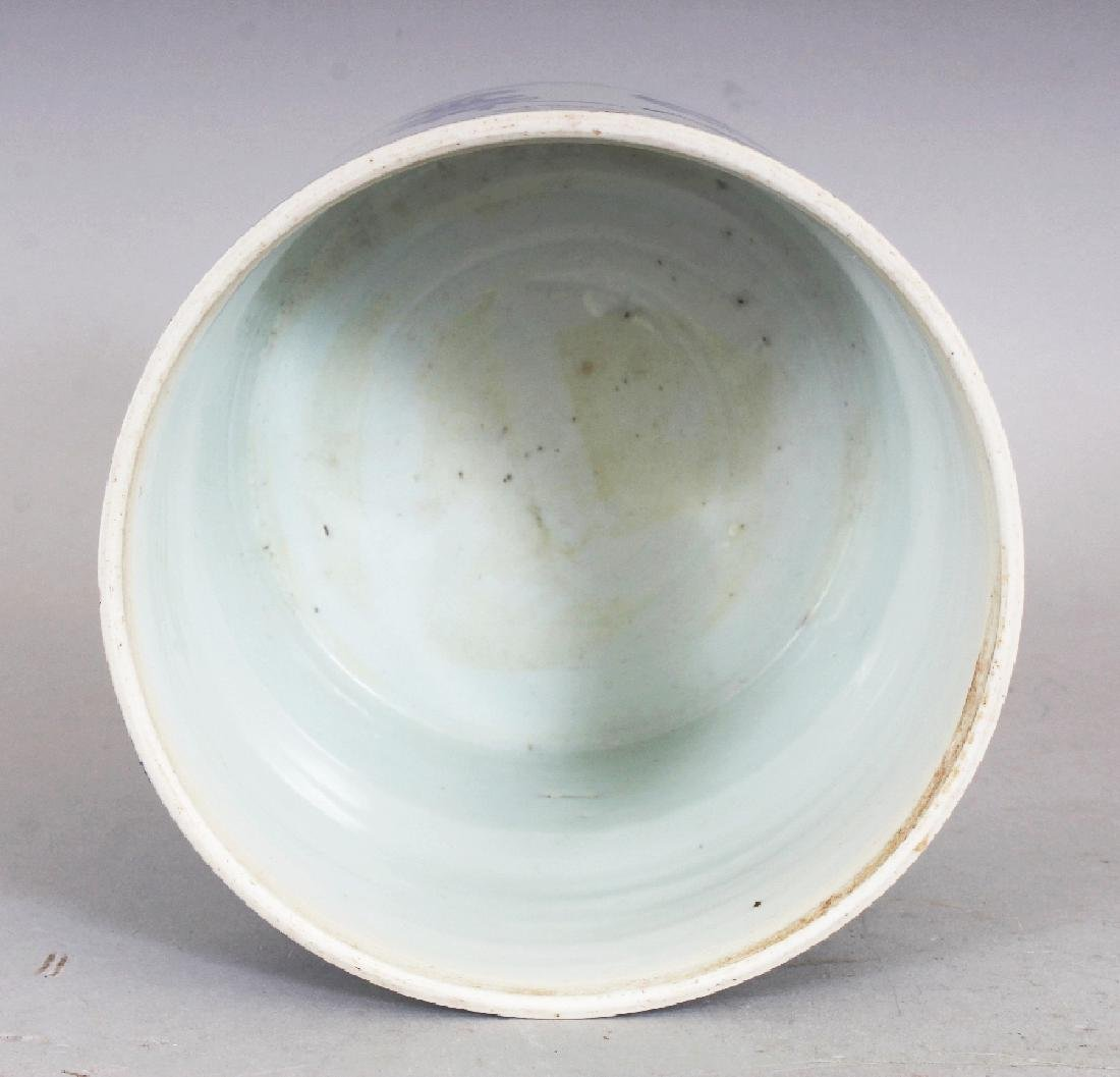 A GOOD QUALITY CHINESE KANGXI PERIOD BLUE & WHITE - 5