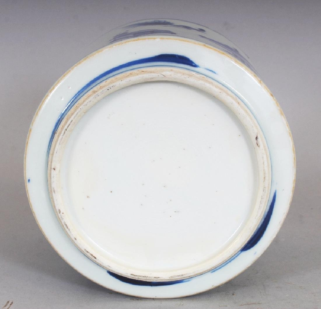 A GOOD QUALITY CHINESE KANGXI PERIOD BLUE & WHITE - 6