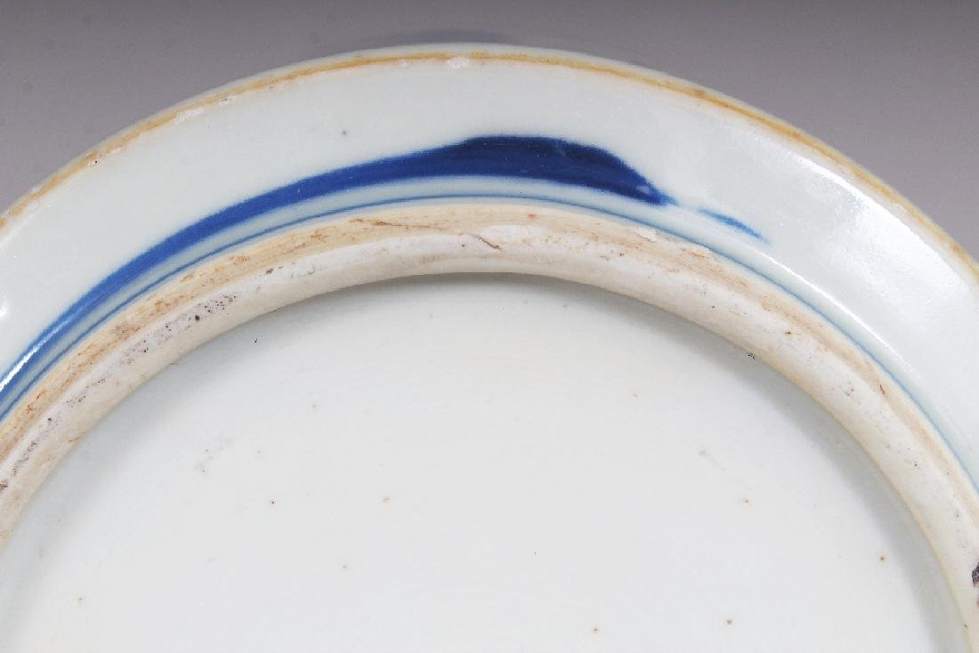 A GOOD QUALITY CHINESE KANGXI PERIOD BLUE & WHITE - 7
