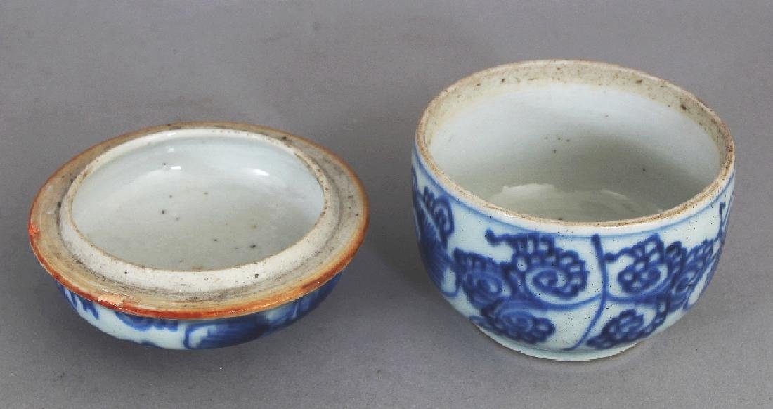 A SMALL 18TH CENTURY CHINESE BLUE & WHITE PROVINCIAL - 5