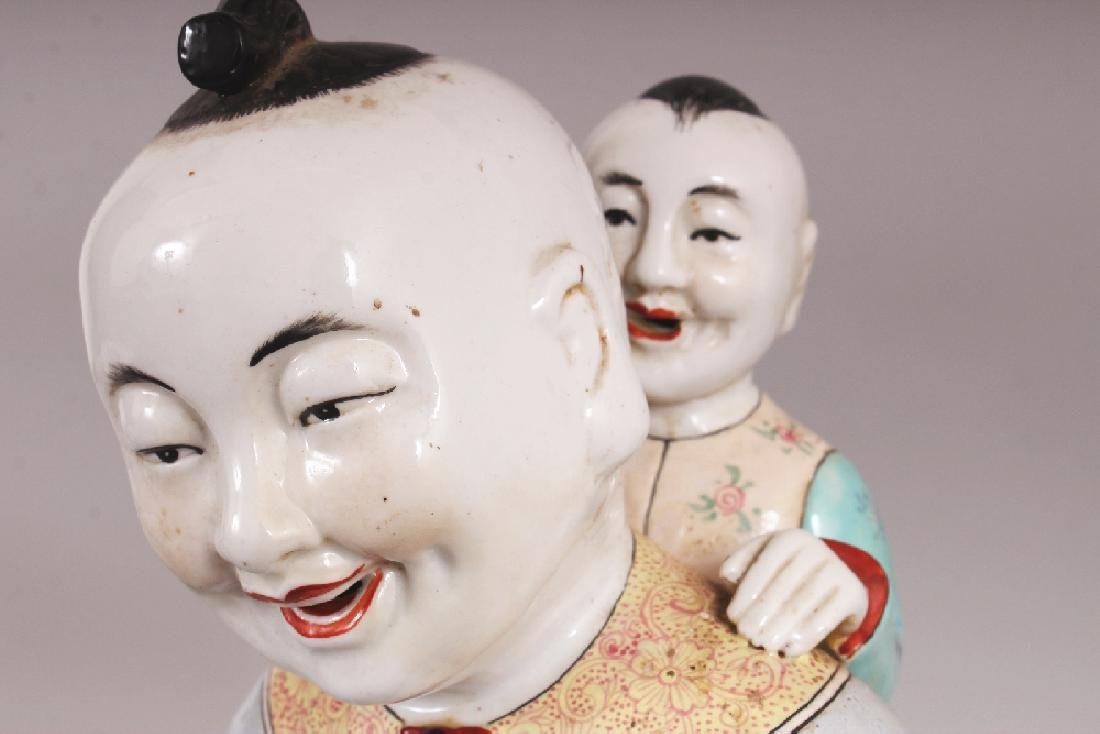 A 20TH CENTURY CHINESE FAMILLE ROSE PORCELAIN GROUP, - 6