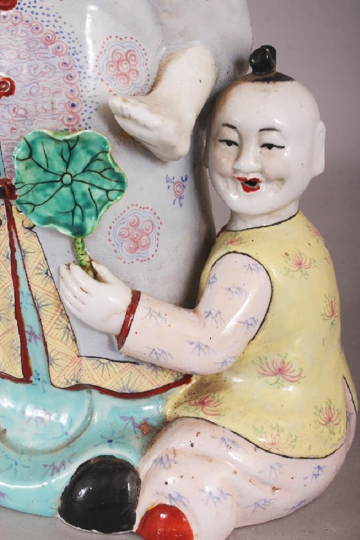 A 20TH CENTURY CHINESE FAMILLE ROSE PORCELAIN GROUP, - 7