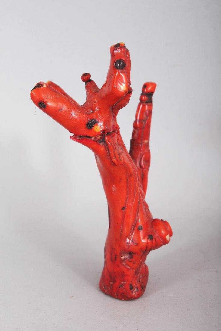 AN EARLY 20TH CENTURY CHINESE RED CORAL CARVING, the - 2