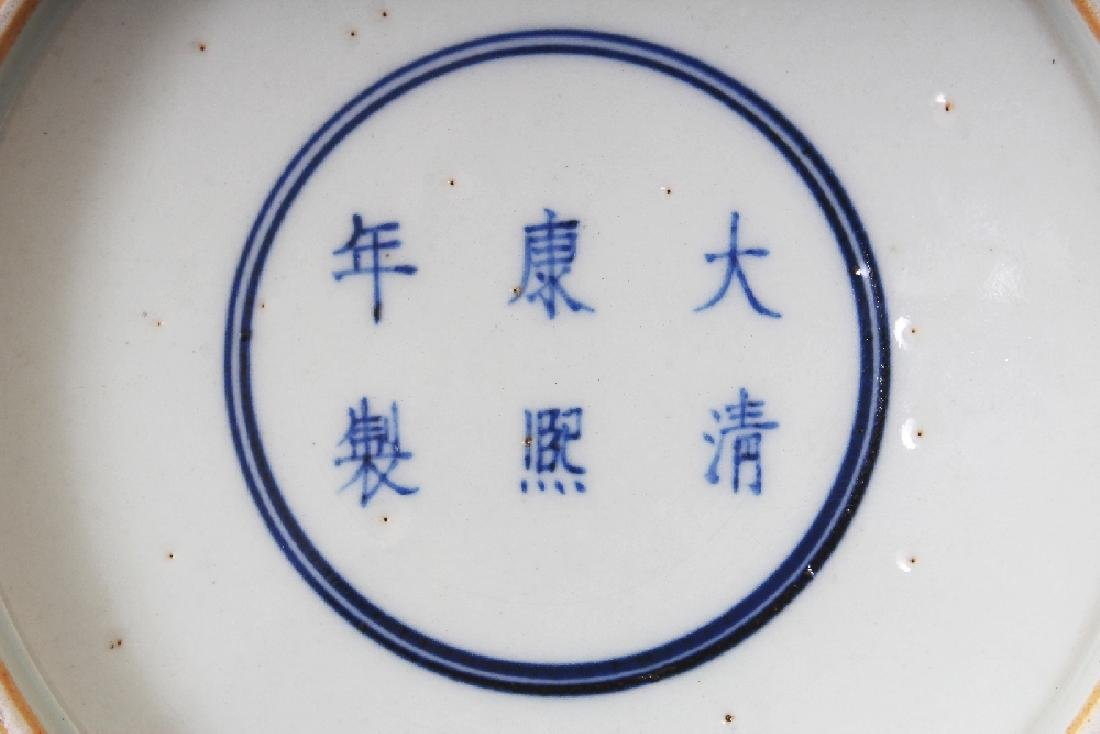 A PAIR OF CHINESE DOUCAI PORCELAIN SAUCER DISHES, each - 9