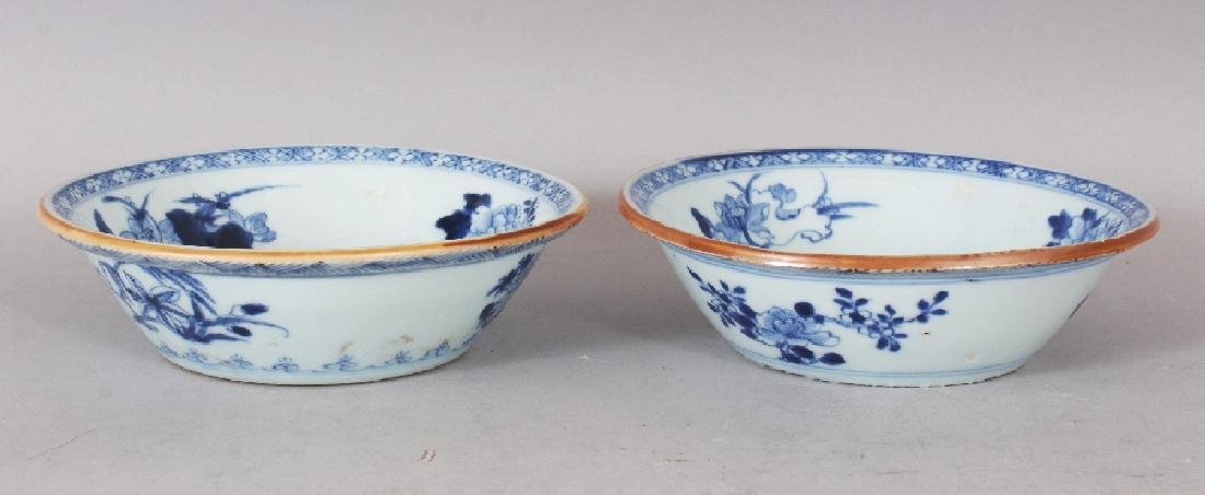 A PAIR OF EARLY 20TH CENTURY CHINESE BLUE & WHITE - 2