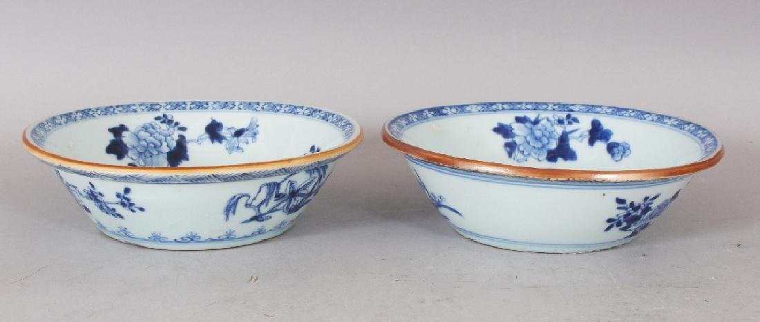 A PAIR OF EARLY 20TH CENTURY CHINESE BLUE & WHITE - 3