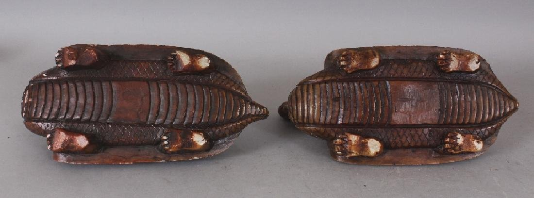 AN UNUSUAL PAIR OF 19TH/20TH CENTURY CHINESE SOAPSTONE - 9