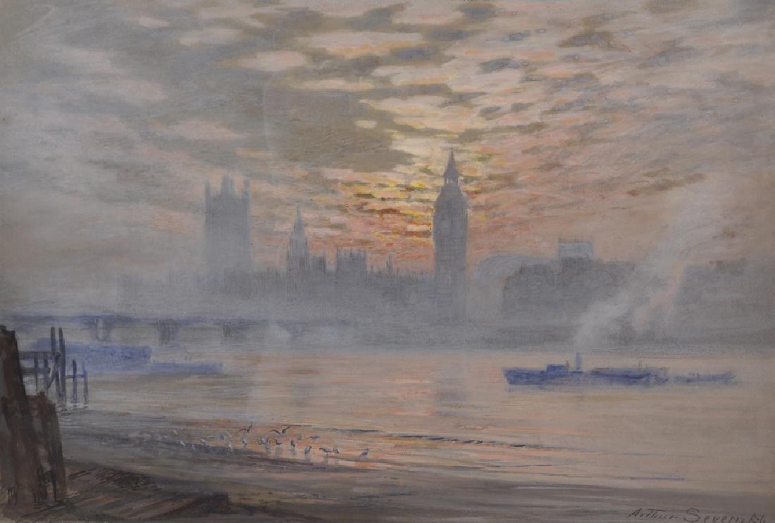 Arthur Severn (1842-1931) British. Houses of