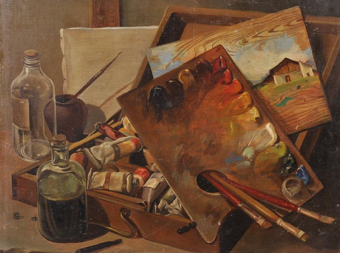 20th Century English School. An Artist Materials, Oil