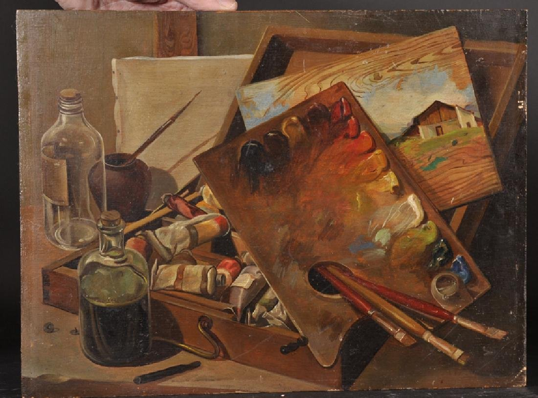 20th Century English School. An Artist Materials, Oil - 2