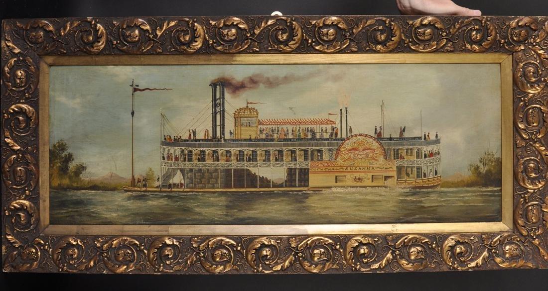 "19th - 20th Century English School. ""Suzanna"", a Paddle - 2"