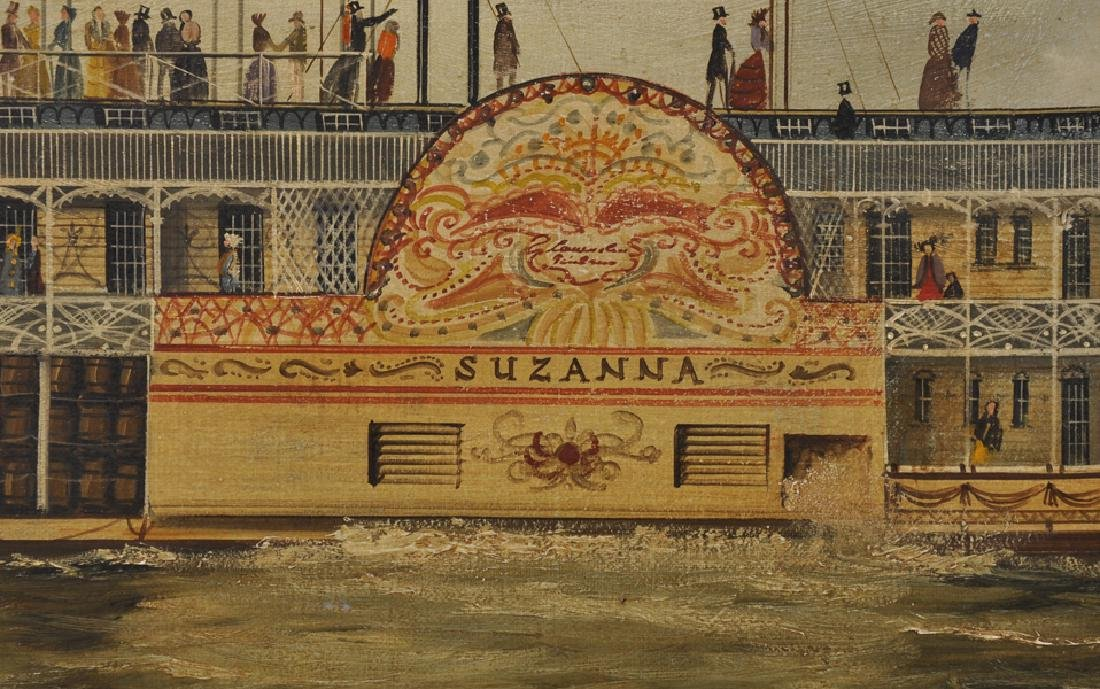 "19th - 20th Century English School. ""Suzanna"", a Paddle - 3"