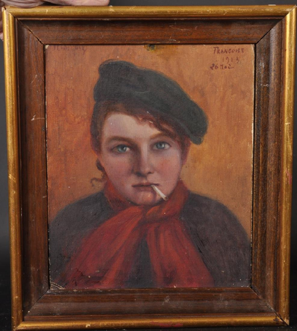 "20th Century French School. ""Francoise"", Portrait of a"