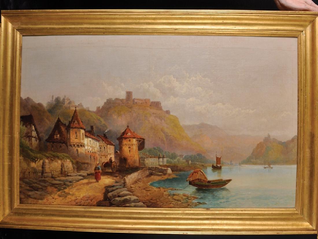 "Joseph Horlor (1809-1887) British. ""St Goar on the"