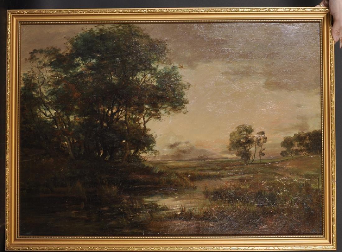 """John Hamilton Glass (1820-1885) British. """"Moonlight on"""