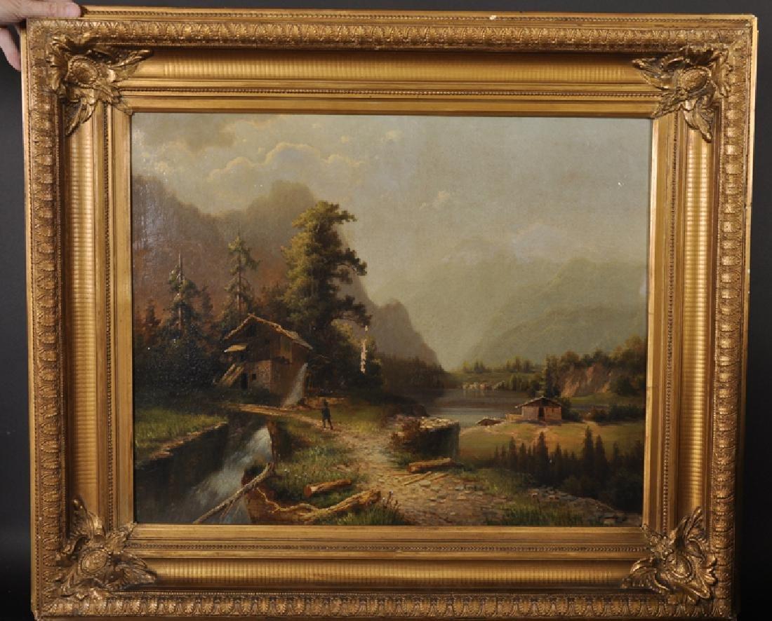 19th Century European School. Landscape with a Figure
