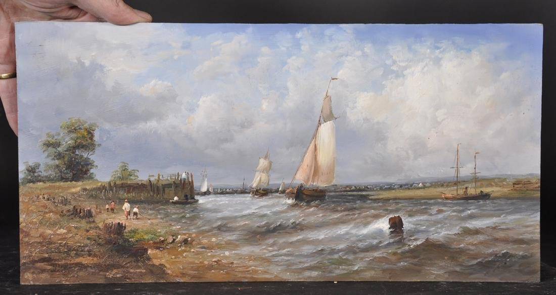 20th Century Dutch School Style. A Shipping Scene, with