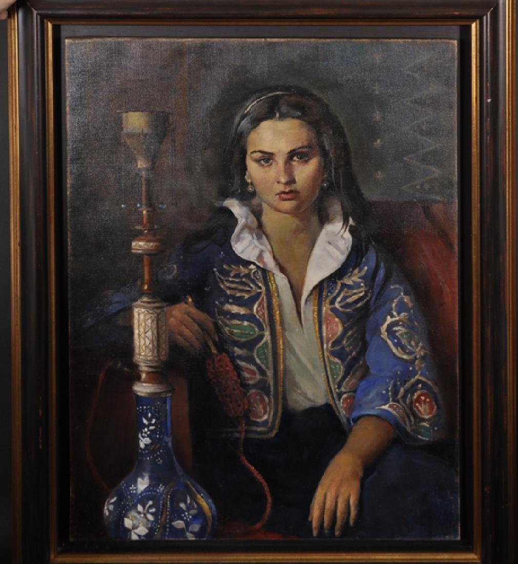 Max Leon Moreau (1902-1992) Belgian. Portrait of an