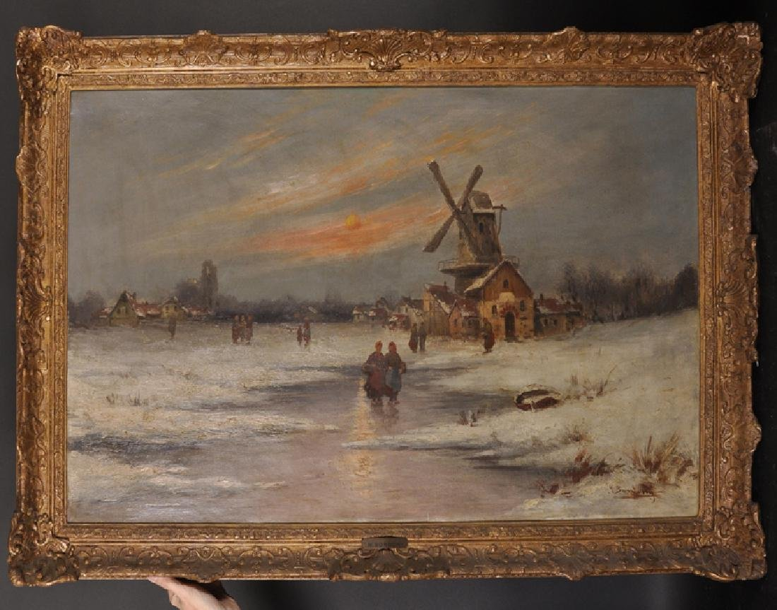 M... Bondony (19th - 20th Century) Dutch. A Winter