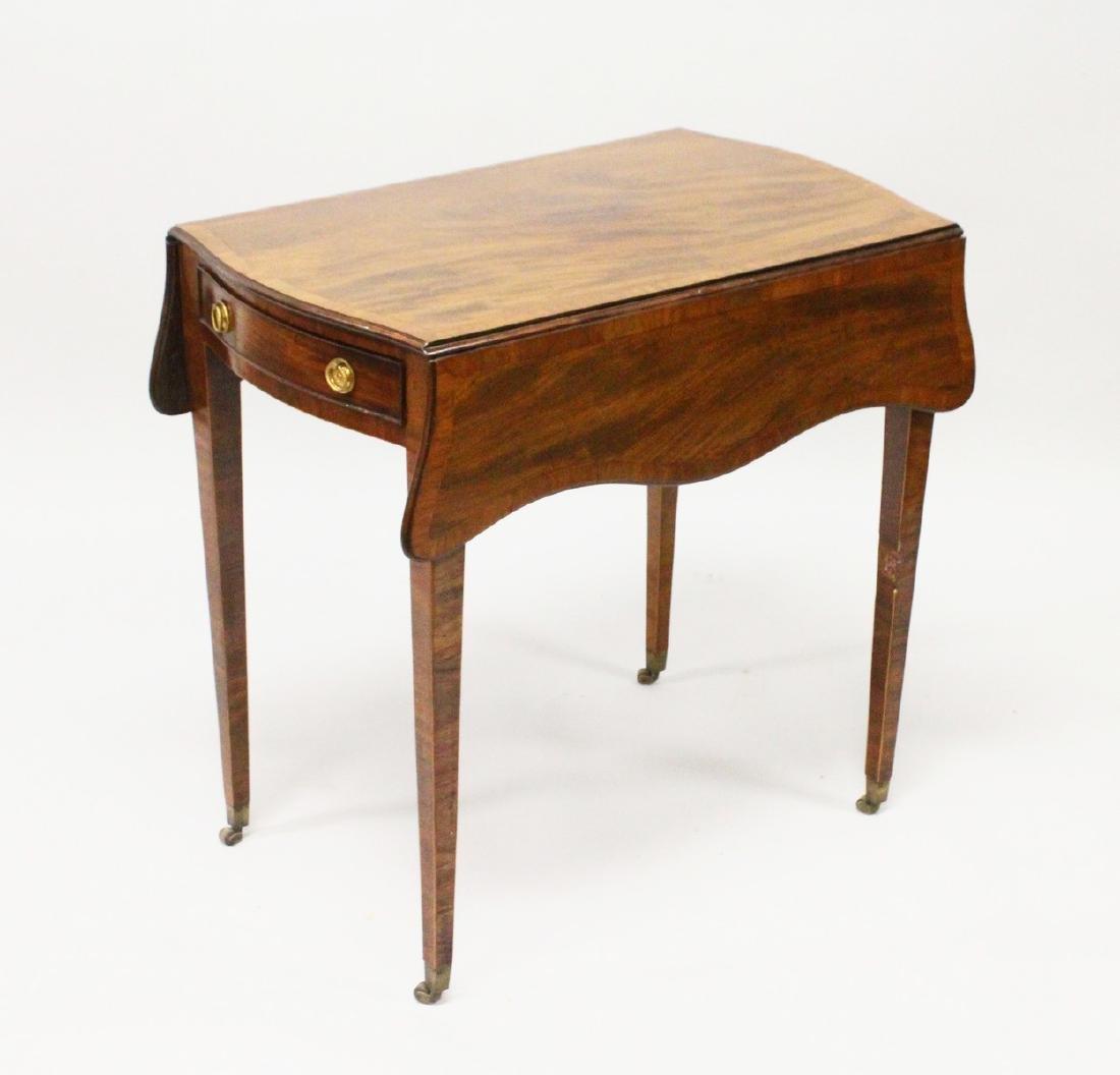 "A GOOD GEORGE III MAHOGANY ""BUTTERFLY"" PEMBROKE TABLE,"