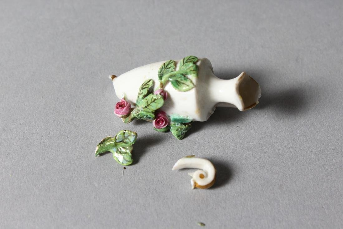 A 19TH CENTURY MEISSEN FLOWER ENCRUSTED TWO-BRANCH - 7