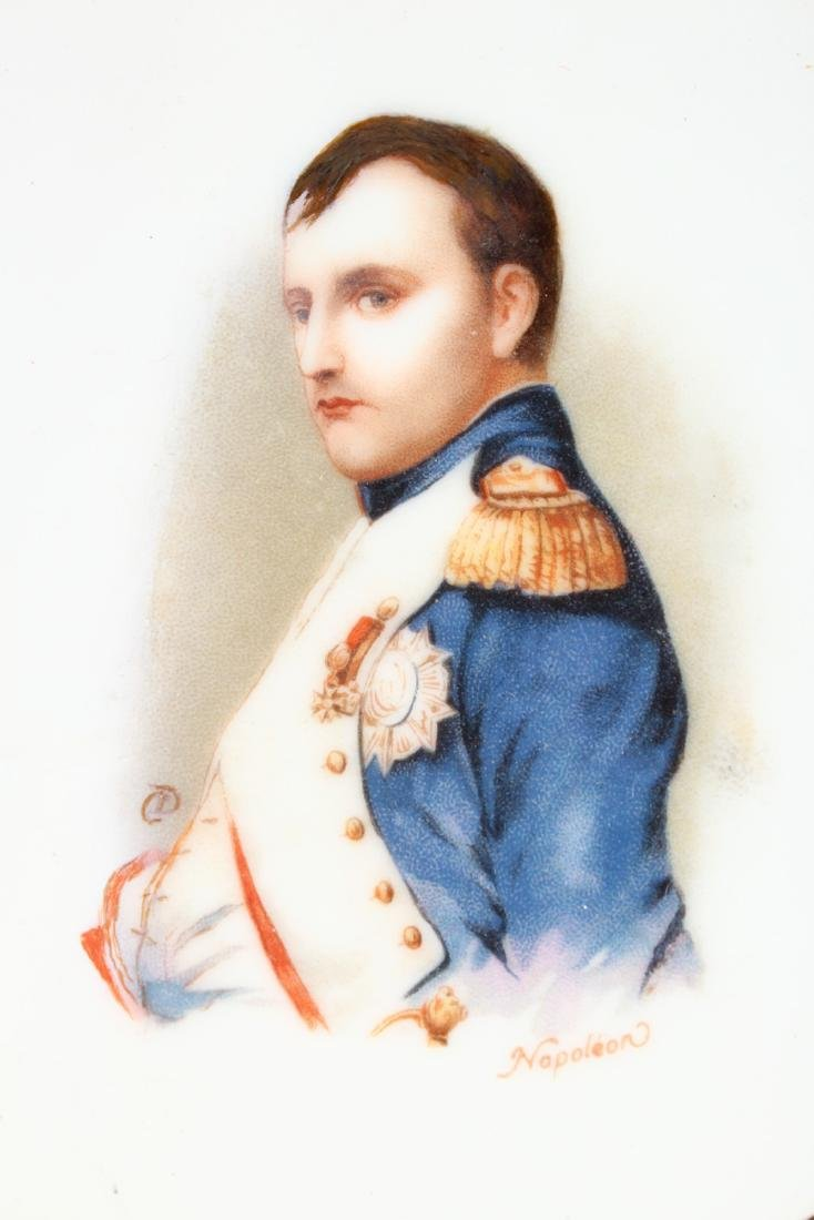 A FRENCH COMPORT, painted with a portrait of Napoleon. - 3