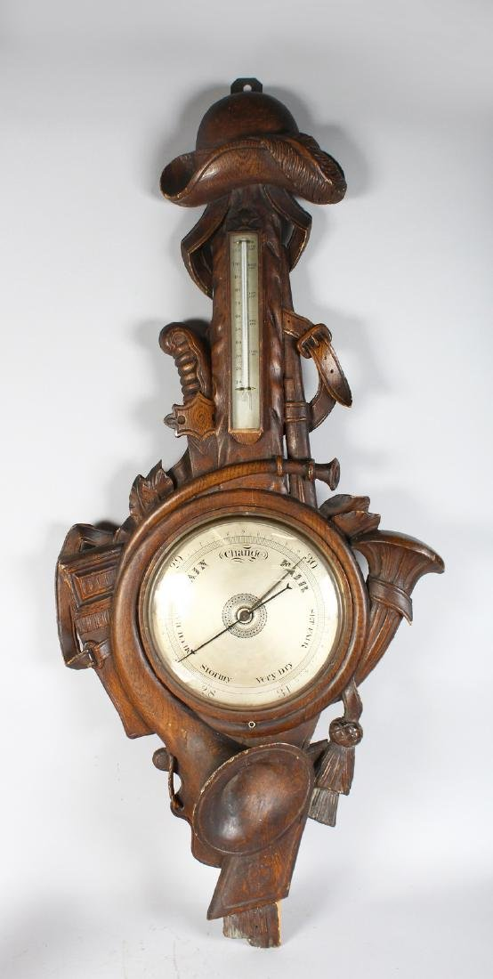 A RARE EARLY 19TH CENTURY BLACK FOREST CARVED WOOD