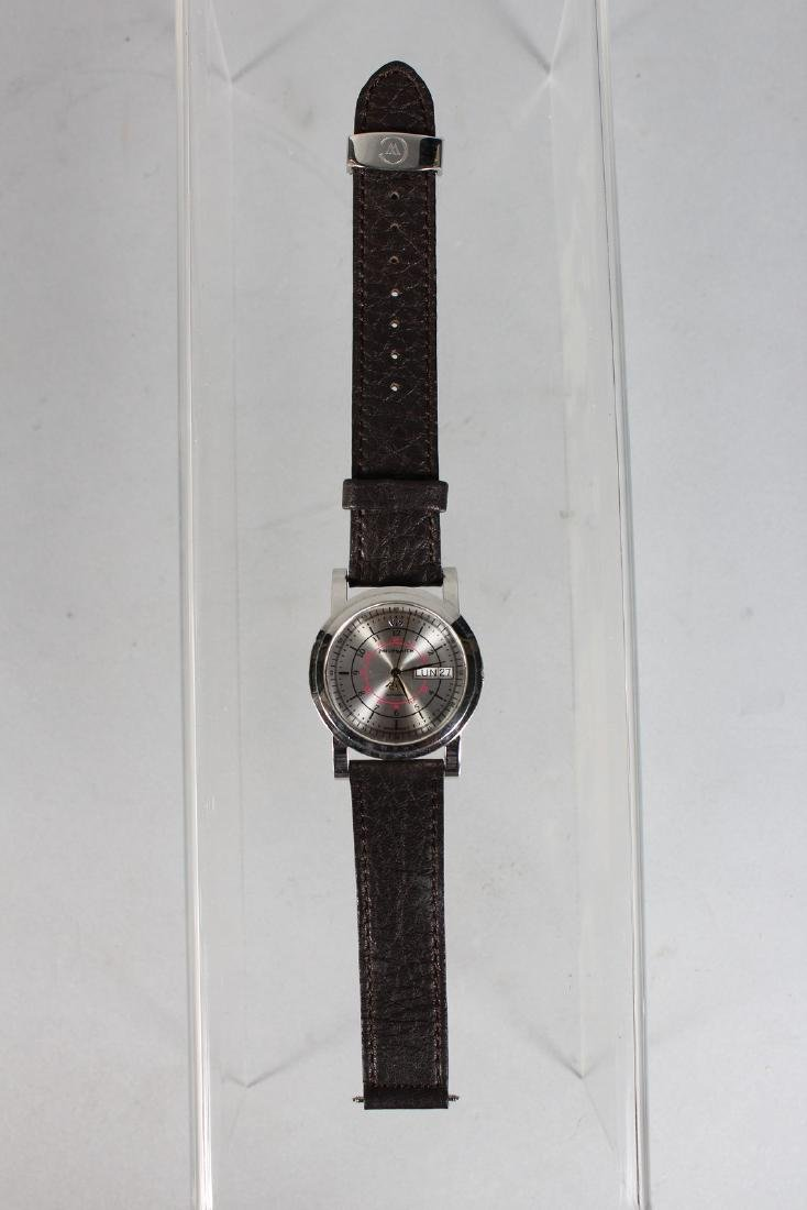 A GENTLEMAN'S PHILIP AUTOMATIC WRISTWATCH with leather - 2