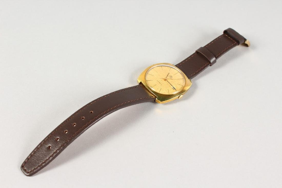 A BUCHERER AUTO DATE WRISTWATCH with leather strap. - 2