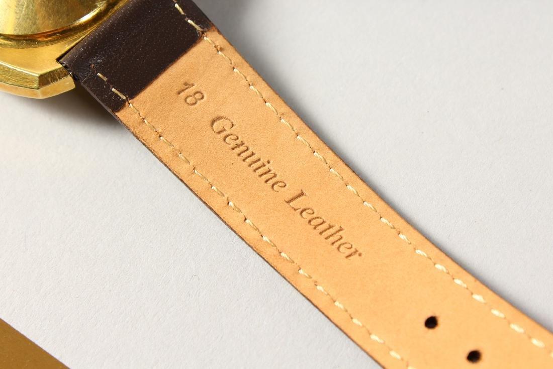 A BUCHERER AUTO DATE WRISTWATCH with leather strap. - 4