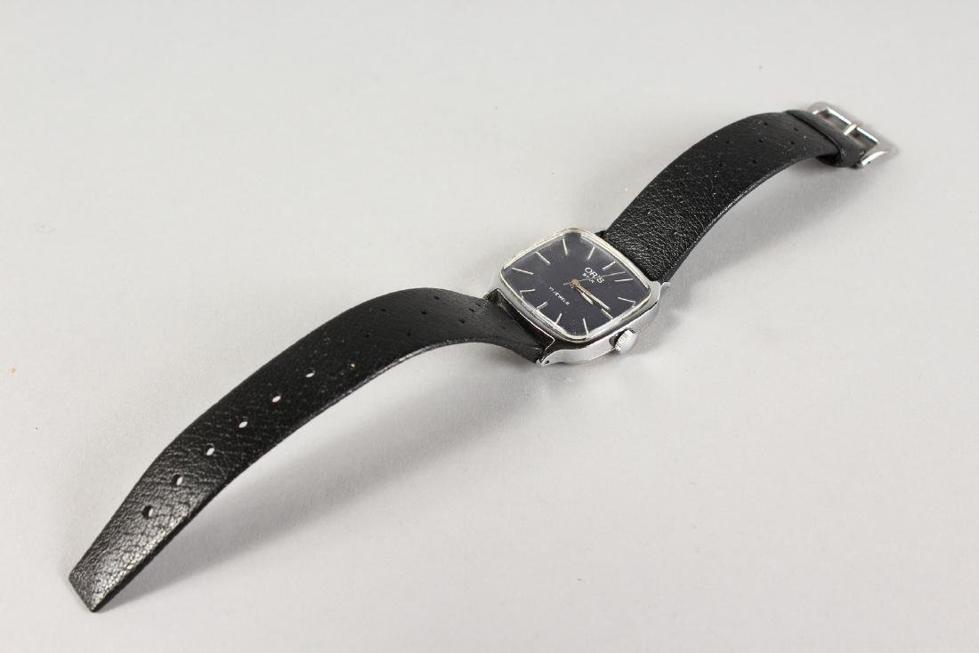 AN ORIS WRISTWATCH with leather strap. - 2